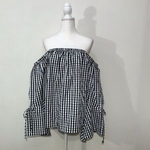 NWT Charlotte Russe Plaid Off the Shoulder Top 3X